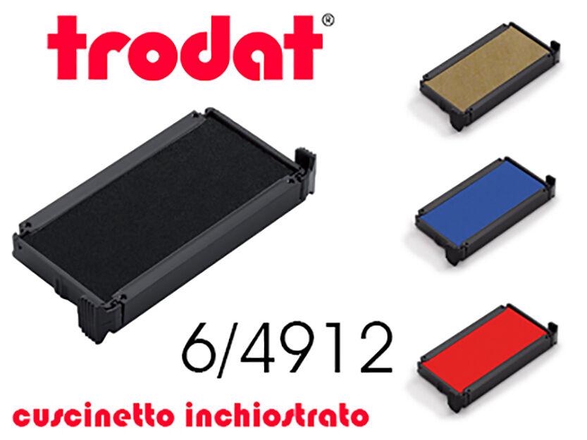 Cuscinetto d'inchiostro per Timbri TRODAT 6/4912 cartuccia di ricambio, tampone
