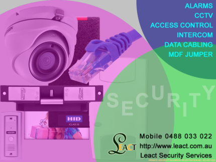 MDF jumper,Alarm, CCTV, Data cabling,  Access control or Intercom