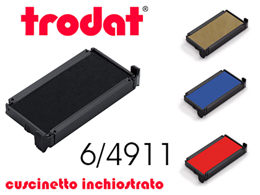 Cuscinetto d'inchiostro per Timbri TRODAT 6/4911 cartuccia di ricambio, tampone