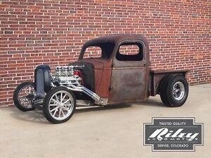 Bobber hot rod truck frame,rat rod no fenders,1935-46 Chevrolet truck cabs