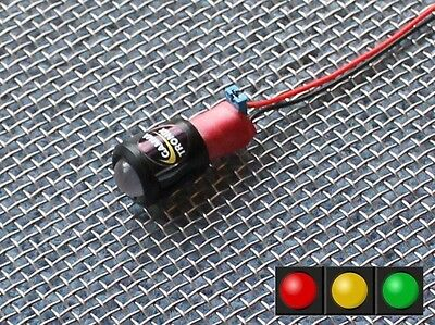12v LED Battery charge / alternator level indicator monitor warning light lamp E
