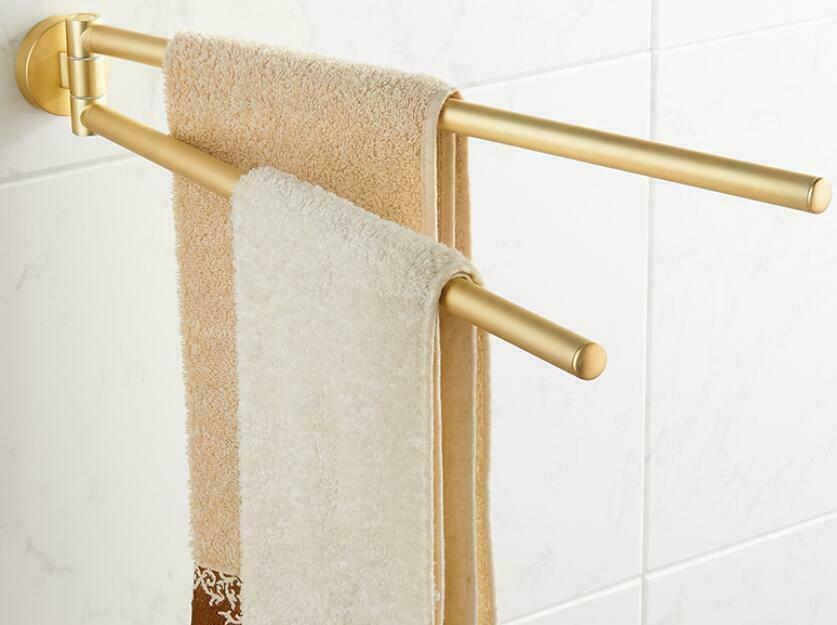 Bathroom Towel Rack Bar Swivel Rail Holder Stainless Steel Wall Hanger Brushed