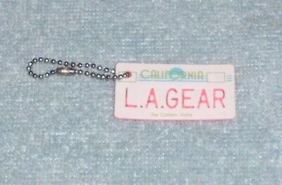 Used, VINTAGE RETRO 1980's L.A. GEAR CALIFORNIA LICENSE PLATE KEY CHAIN SHOE TAG  for sale  Cortland