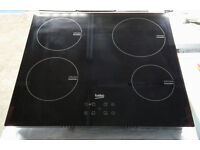 p101 black beko ceramic induction hob graded 12 months warranty can be delivered or collected