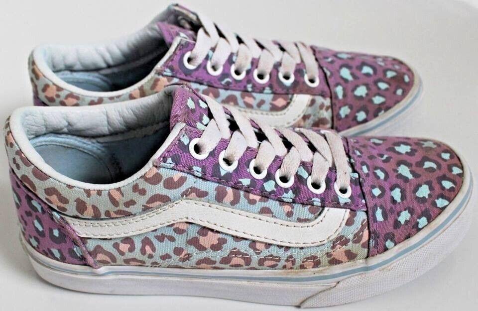 c23229d379c Girls Size 2 Leopard Print Vans Trainers