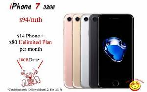 New Unlocked iPhone 7 Unlimited National Calls 10GB DATA Auburn Auburn Area Preview