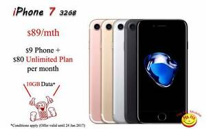 New Unlocked iPhone 7 Unlimited National Calls 10GB DATA Auburn Auburn Area Preview