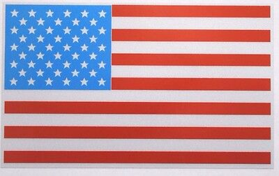 FULLY REFLECTIVE AMERICAN FLAG FIRE HELMET DECAL 2