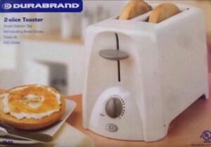 White durabrand 2-slice bread toaster