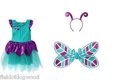 NWT GYMBOREE HALLOWEEN DRAGONFLY FAIRY COSTUME w/ WINGS HEADBAND SZ 3 4  (Halloween Dragonfly)