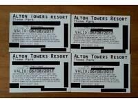 4 x Holiday Sunday Alton Towers Tickets 6/8/2017