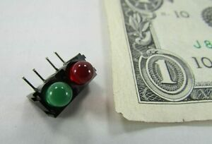 Lot-10-Red-Green-LED-Light-Bars-Model-Train-Crossing-Signal-Solder-Mounted