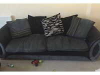 Two piece sofa set for sale