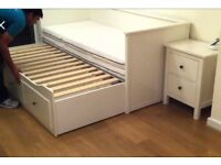 Ikea Hemnes Daybed In Immaculate Condition with 2 mattresses