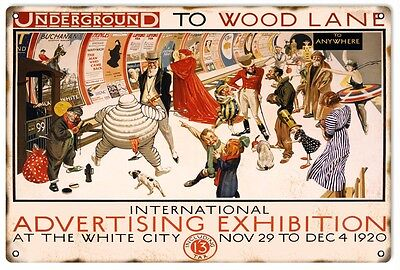 Reproduction 1920's International Advertising Exhibition Sign