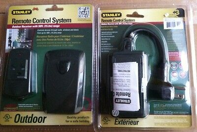 2 x stanley remote control system Outdoor Receiver 50 Foot Range (Stanley Remote)