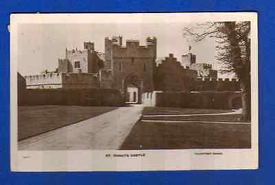 Postcard St Donat's Castle Llantwit Major - Early Valentine RP - Posted