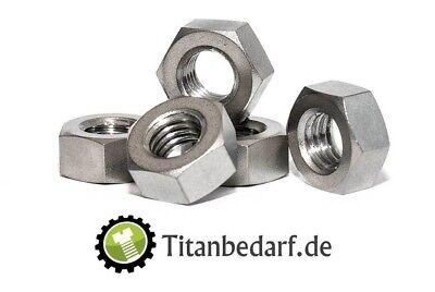 Sechskantmutter M8 DIN 934 aus Titan Grade 2 (Verpackungseinheit 2 Stück) (Verpackungseinheit)