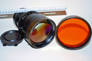 SPACE-ANTIQUE-400mm-AERIAL-Lens-LARGE-FORMAT-AMAZING-AIR-CRAFT-SPACE-PROBE-LENS