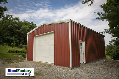 Steel Factory Mfg 16x20x9 Galvanized Metal Storage Steel Garage Building Kit