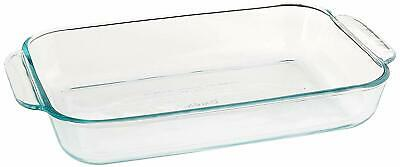 -  DEFECTIVE - Pyrex Basics Glass Oblong Baking Dish, Clear 2 QT