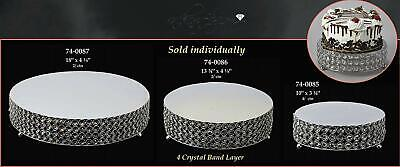 Acrylic Crystal Metal Round Cake Stand Riser Platform Table Center Piece Venue