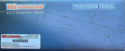 Brand New 4 Pc 12 Westward 4ku80 Combination Square Set - Blue Free Shipping