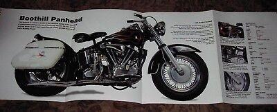 HARLEY-DAVIDSON PANHEAD MOTORCYCLE POSTER 39x27 HUGE  hd vintage art collectible