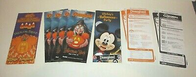 Mickey Not So Scary Halloween Disneyland (DISNEY DISNEYLAND HALLOWEEN TIME MICKEY'S NOT SO SCARY PARTY BROCHURES)