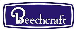 A080-Beechcraft-Airplane-banner-hangar-garage-decor-Aircraft-signs
