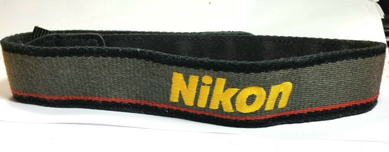 Genuine NIKON CAMERA NECK STRAP  Black / Yellow /Grey  for DSLR / SLR Cameras