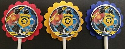 Police/ Law Enforcement Cupcake Toppers Set of 24 - Law Enforcement Party Supplies