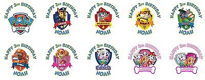 30 Paw Patrol Birthday Stickers Lollipop Labels Party Favors