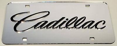 Cadillac Chrome Mirror License Plate Auto Tag