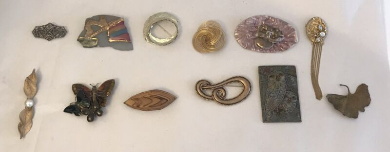 Vintage Pin Lot Of 12