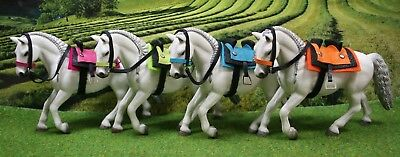 Spanischer Sattel Trense  Color Zubehör passend für  Schleich Pferde Pferd  ()