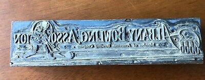 Vintage Letterpress Wood Type Block Albany Bowling Association