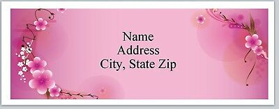 Personalized Address Labels Pink Flowers Buy 3 get 1 free (P 391)