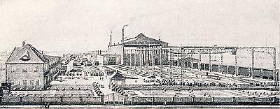 Bahnbedarf Reckmann Halle Reklame 1924 Eisenbahn Gleise Weichen Drehscheiben
