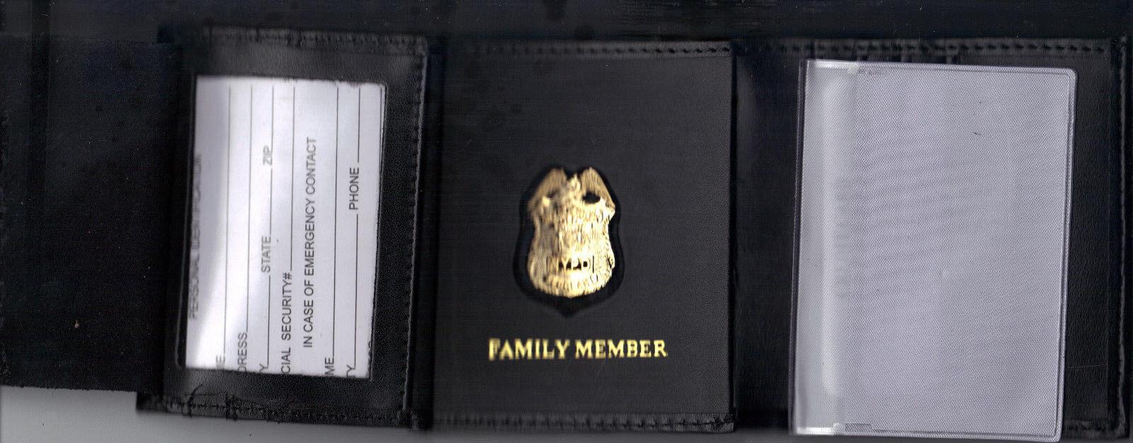 1-inch Mini Detective Tri-Fold money//CC Wallet CT09 NY//NJ Police-Style