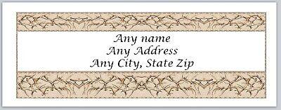 30 Personalized Address Labels Deer Antlers Buy 3 get 1 free (ac 534) (Buy Deer Antlers)