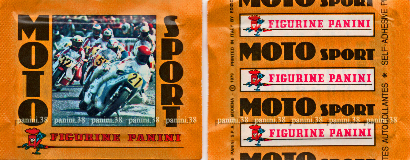 "Rare !! pochette ""moto sport 1979"" packet, tüte, bustina panini"