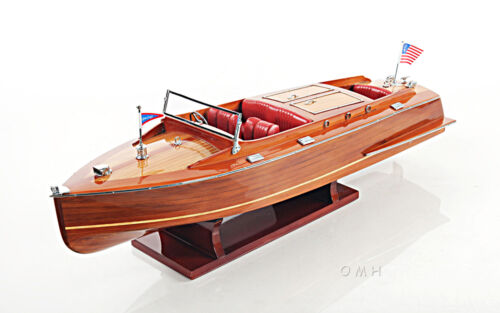 """Chris Craft Runabout Wood Model 24"""" Classic Mahogany Racing Speed Boat New"""