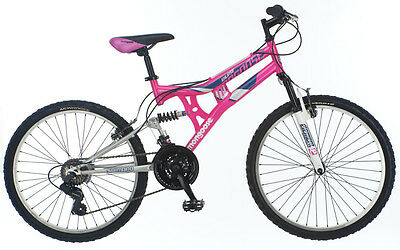 24 in Mongoose Girls Dual Suspension Moutain Bike Exlipse Pink