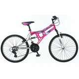 24 in Mongoose Girl's Dual Suspension Moutain Bike Exlipse, Pink