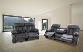 VICTORIA LUXURY BONDED LEATHER RECLINER WITH PULL DOWN DRINK HOLDER