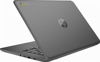 "HP 14"" HD Touchscreen Intel 2.4GHZ 32GB SSD Chromebook Laptop 4GB Webcam BT Gray"