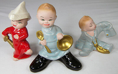 3 Vintage LITTLE BOY Figurines Dress-Up Play Pirate Daddy's Shoes & Shirt Japan](Little Boy Dress Up Clothes)