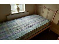 Children's pink single bed