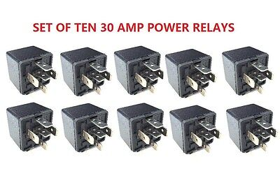 10pcs 12V Volt SPDT Relay Car Automotive Alarm 30 AMP 30A 5 Pin